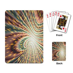 Vortex Glow Abstract Background Playing Card