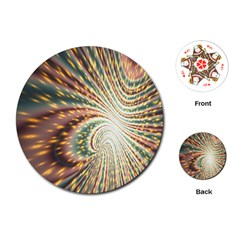 Vortex Glow Abstract Background Playing Cards (Round)