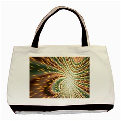 Vortex Glow Abstract Background Basic Tote Bag