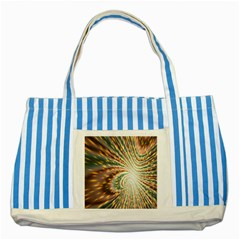 Vortex Glow Abstract Background Striped Blue Tote Bag