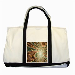 Vortex Glow Abstract Background Two Tone Tote Bag