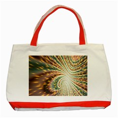 Vortex Glow Abstract Background Classic Tote Bag (red)