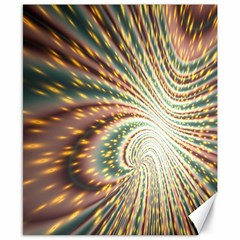 Vortex Glow Abstract Background Canvas 8  X 10