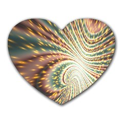 Vortex Glow Abstract Background Heart Mousepads