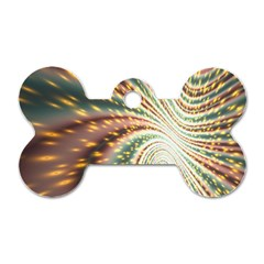 Vortex Glow Abstract Background Dog Tag Bone (one Side)