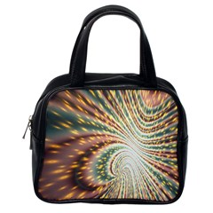 Vortex Glow Abstract Background Classic Handbags (one Side)