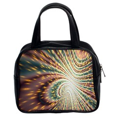 Vortex Glow Abstract Background Classic Handbags (2 Sides)