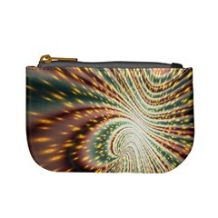 Vortex Glow Abstract Background Mini Coin Purses