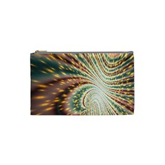 Vortex Glow Abstract Background Cosmetic Bag (small)
