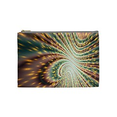 Vortex Glow Abstract Background Cosmetic Bag (medium)