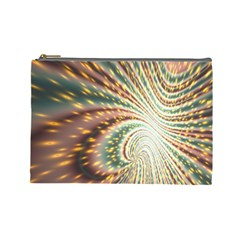 Vortex Glow Abstract Background Cosmetic Bag (large)