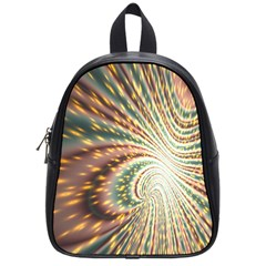 Vortex Glow Abstract Background School Bags (small)