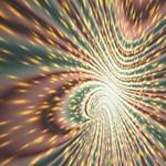 Vortex Glow Abstract Background Storage Stool 12   Front