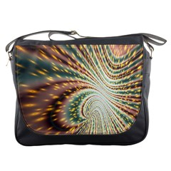 Vortex Glow Abstract Background Messenger Bags
