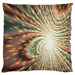 Vortex Glow Abstract Background Large Cushion Case (one Side)