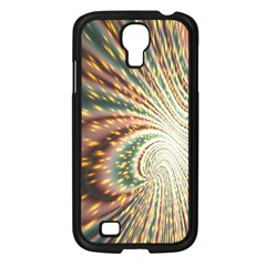 Vortex Glow Abstract Background Samsung Galaxy S4 I9500/ I9505 Case (Black)