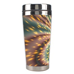 Vortex Glow Abstract Background Stainless Steel Travel Tumblers