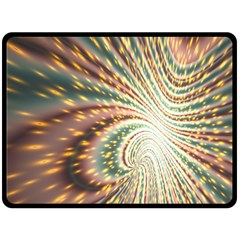 Vortex Glow Abstract Background Double Sided Fleece Blanket (Large)