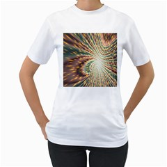 Vortex Glow Abstract Background Women s T-Shirt (White)