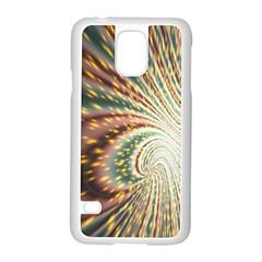 Vortex Glow Abstract Background Samsung Galaxy S5 Case (white)