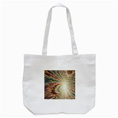 Vortex Glow Abstract Background Tote Bag (White)