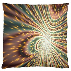 Vortex Glow Abstract Background Large Flano Cushion Case (One Side)