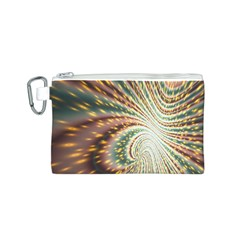 Vortex Glow Abstract Background Canvas Cosmetic Bag (S)
