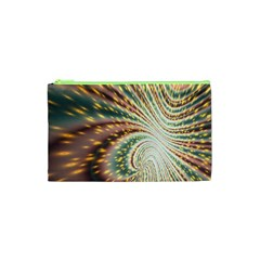 Vortex Glow Abstract Background Cosmetic Bag (XS)