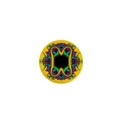 Fractal Rings In 3d Glass Frame 1  Mini Magnets