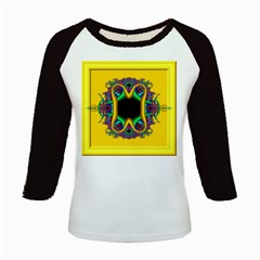 Fractal Rings In 3d Glass Frame Kids Baseball Jerseys