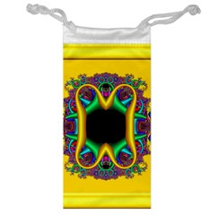 Fractal Rings In 3d Glass Frame Jewelry Bag