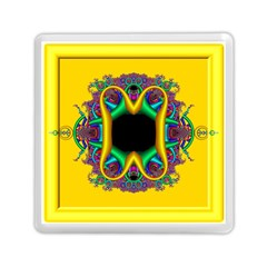 Fractal Rings In 3d Glass Frame Memory Card Reader (square)