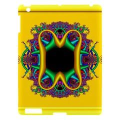 Fractal Rings In 3d Glass Frame Apple iPad 3/4 Hardshell Case