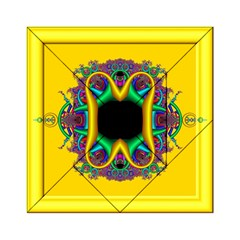 Fractal Rings In 3d Glass Frame Acrylic Tangram Puzzle (6  x 6 )
