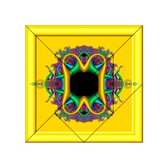 Fractal Rings In 3d Glass Frame Acrylic Tangram Puzzle (4  X 4 )