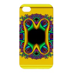 Fractal Rings In 3d Glass Frame Apple iPhone 4/4S Premium Hardshell Case