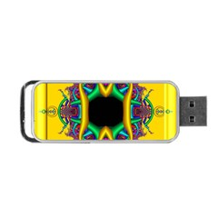 Fractal Rings In 3d Glass Frame Portable Usb Flash (two Sides)