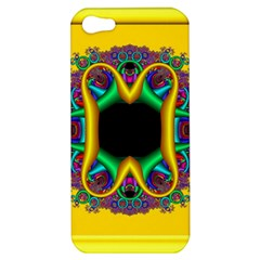Fractal Rings In 3d Glass Frame Apple iPhone 5 Hardshell Case