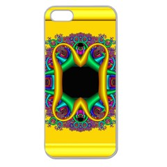 Fractal Rings In 3d Glass Frame Apple Seamless iPhone 5 Case (Clear)
