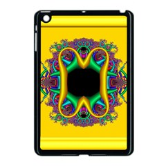 Fractal Rings In 3d Glass Frame Apple iPad Mini Case (Black)