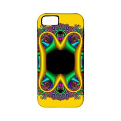 Fractal Rings In 3d Glass Frame Apple iPhone 5 Classic Hardshell Case (PC+Silicone)
