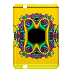 Fractal Rings In 3d Glass Frame Kindle Fire HD 8.9