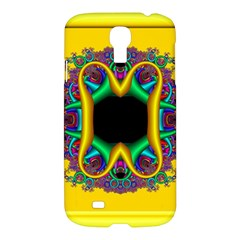 Fractal Rings In 3d Glass Frame Samsung Galaxy S4 I9500/I9505 Hardshell Case