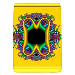 Fractal Rings In 3d Glass Frame Flap Covers (S)