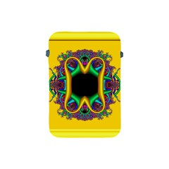 Fractal Rings In 3d Glass Frame Apple Ipad Mini Protective Soft Cases