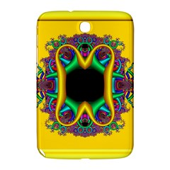 Fractal Rings In 3d Glass Frame Samsung Galaxy Note 8.0 N5100 Hardshell Case