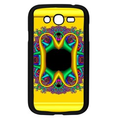 Fractal Rings In 3d Glass Frame Samsung Galaxy Grand DUOS I9082 Case (Black)