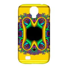 Fractal Rings In 3d Glass Frame Samsung Galaxy S4 Classic Hardshell Case (PC+Silicone)