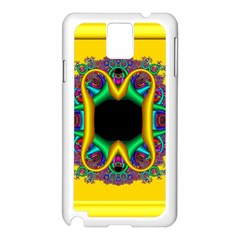 Fractal Rings In 3d Glass Frame Samsung Galaxy Note 3 N9005 Case (White)