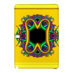 Fractal Rings In 3d Glass Frame Samsung Galaxy Tab Pro 10.1 Hardshell Case